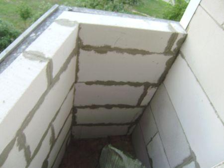фото балкона из пеноблоков