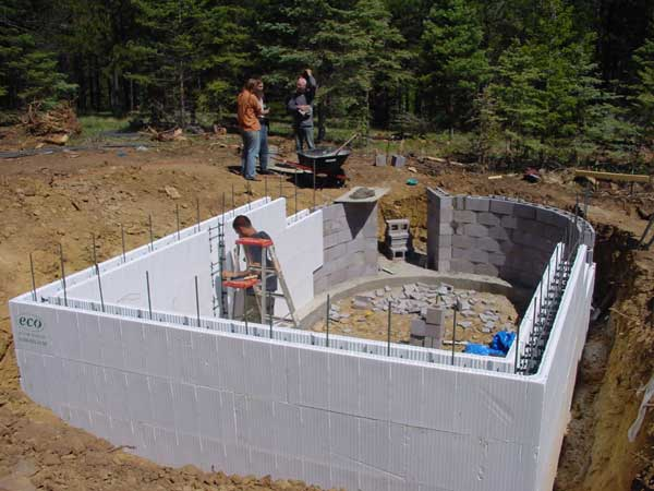 for Foam block wall construction