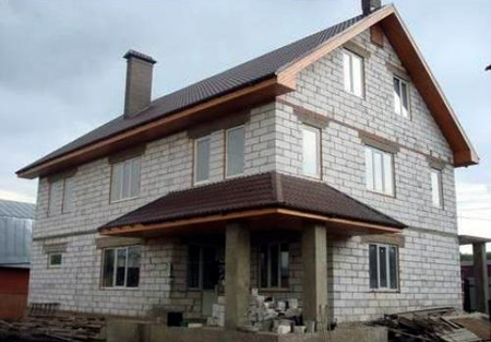 Малоэтажные дома из пеноблоков своими руками