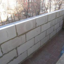 Балкон из газоблоков