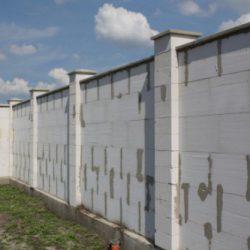 Забор из газобетона своими руками