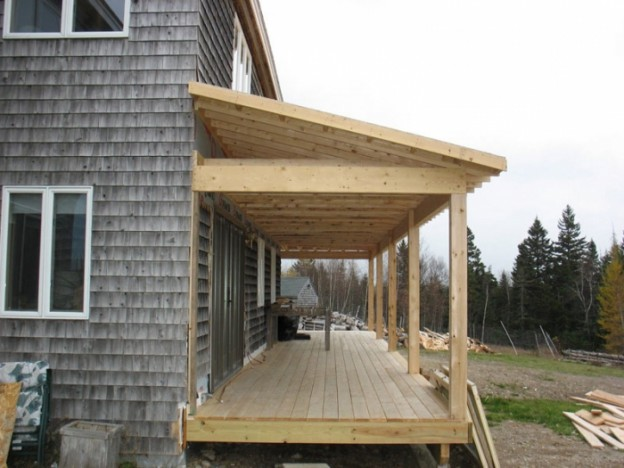 Пристройка веранды к деревянному дому