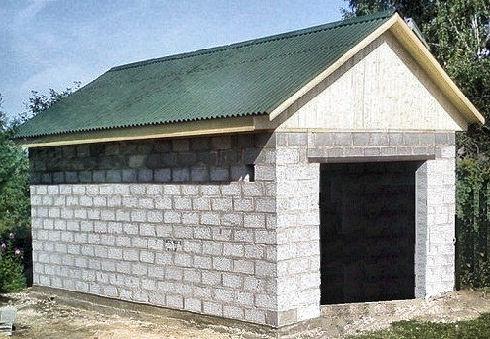 Стоимость гаража из шлакоблоков своими руками