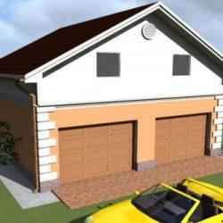 Проект гаража из пеноблоков своими руками