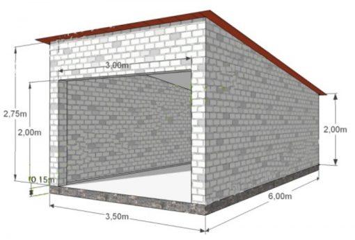 проект стен гаража