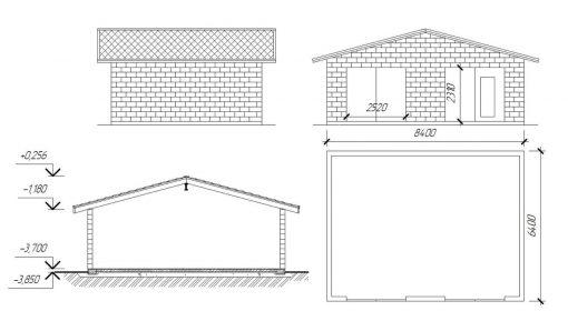 проект гаража из шлакоблока