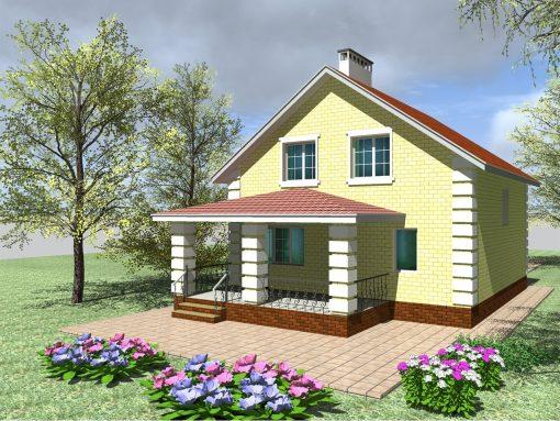 проекты дома из блоков 9 на 9